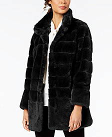 Jones New York Petite Faux-Fur Coat