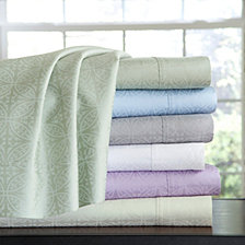 Pointehaven Printed Sheet Sets, 300 Thread Count Cotton Sateen