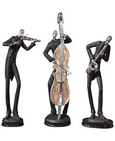 Musicians Set of 3 Decorative Figurines