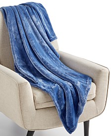 "CLOSEOUT! Charter Club Cozy Plush 50"" x 70"" Throw, Created for Macy's"
