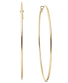 "Gold-Tone Slim Extra Large 4"" Extra Large Hoop Earrings , Created for Macy's"