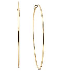 "Thalia Sodi Gold-Tone Slim Extra Large 4"" Hoop Earrings, Created for Macy's"