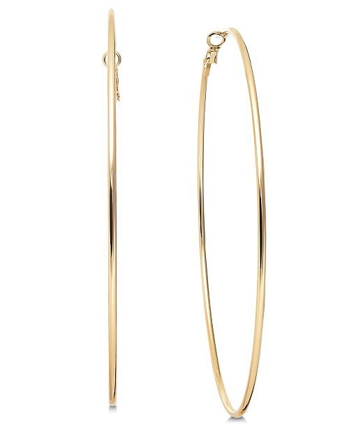 "Thalia Sodi Gold-Tone Slim Extra Large 4"" Extra Large Hoop Earrings , Created for Macy's"