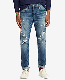 Polo Ralph Lauren Men's Sullivan Patch Ripped Slim Jeans