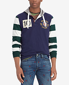 Polo Ralph Lauren Men's Big & Tall Embroidered Crest Cotton Hoodie
