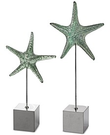 Set of 2 Starfish Sculptures