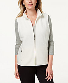 Karen Scott Stand Collar Vest, Created for Macy's