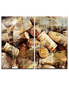 Ready2HangArt 'Never Enough Corks' Oversized 2-Pc. Canvas Art Print Set