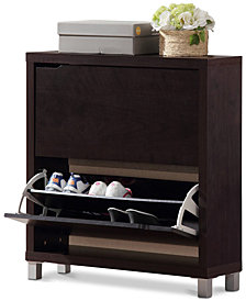 Eemeli Modern Shoe Cabinet, Quick Ship