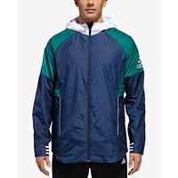 Adidas Men's Sport ID Colorblocked Hooded Jacket