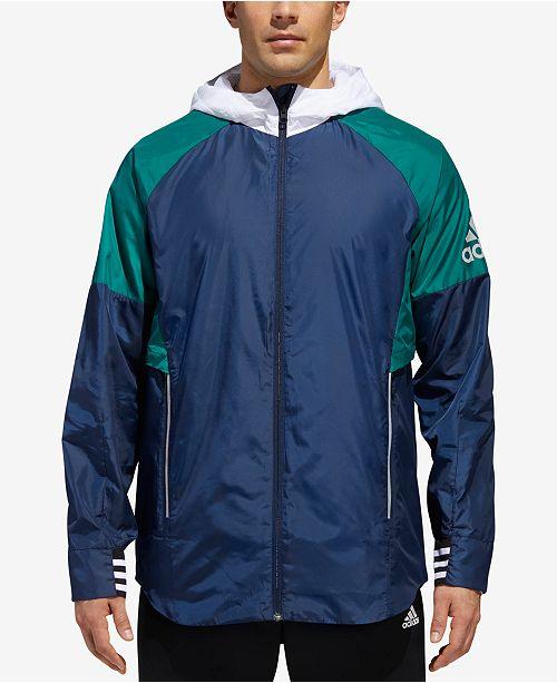330694194 adidas Men's Sport ID Colorblocked Hooded Jacket & Reviews ...