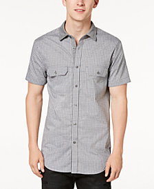 A|X Armani Exchange Men's Knit Collar Pocket Shirt