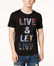 GUESS Men's Let Live Graphic-Print T-Shirt