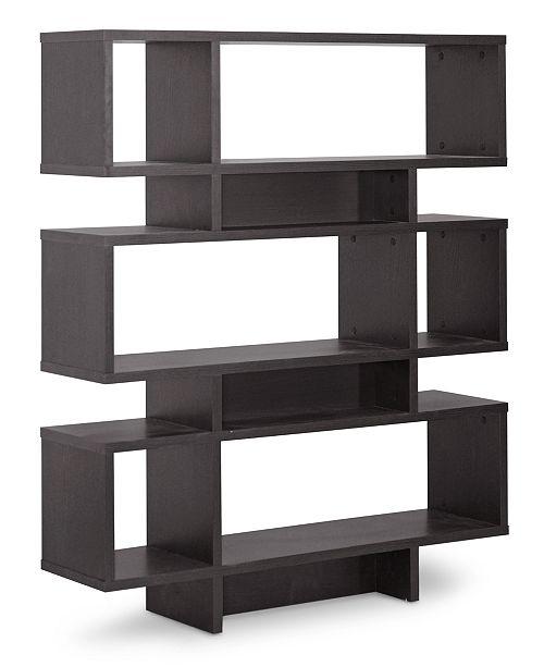 Furniture Sione 6 Shelf Modern Bookshelf Quick Ship Furniture
