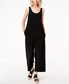 Eileen Fisher Tencel® Crepe Wide-Leg Ankle Jumpsuit