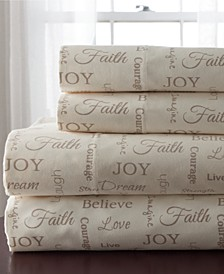 Inspirational 4-Pc. Full Sheet Set