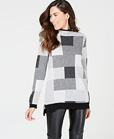 Charter Club Printed Pure Cashmere Sweater, Created for Macy's