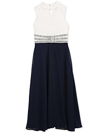 Speechless Big Girls Embellished-Waist Maxi Dress