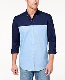 Club Room Men's Colorblocked Oxford Shirt, Created for Macy's