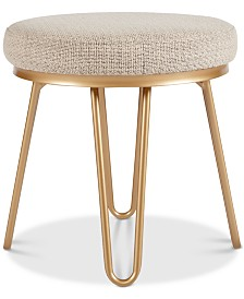 Bradden Round Stool, Quick Ship