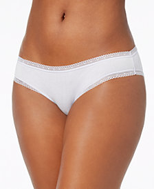 Charter Club Cotton Lace-Trim Bikini, Created for Macy's