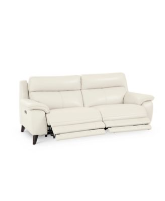 "Milany 87"" Leather Power Reclining Sofa with Power Headrest and USB Power Outlet, Created for Macy's"