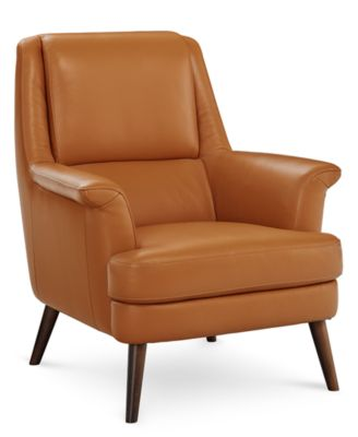 Milany Leather Accent Chair, Created for Macy's