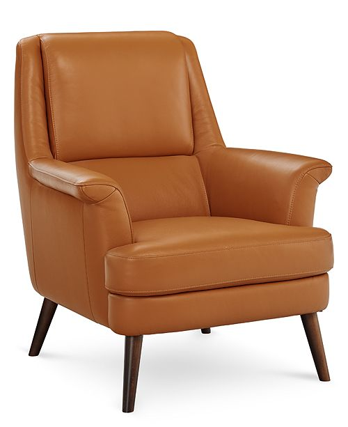 Phenomenal Milany Leather Accent Chair Created For Macys Machost Co Dining Chair Design Ideas Machostcouk