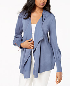 Love Scarlett Petite Draped Open Cardigan