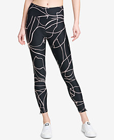 DKNY Sport Amaryllis Printed High-Rise Leggings