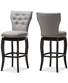 Sycily Swivel Bar Stool (Set of 2)