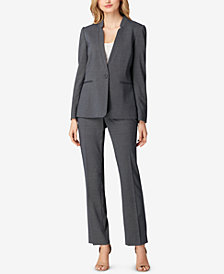 Tahari ASL Star-Collar Pantsuit, Regular & Petite
