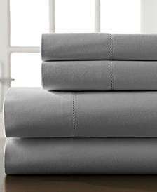 Hemstitch Cotton 400 Thread Count 5-Pc. Split King Sheet Set