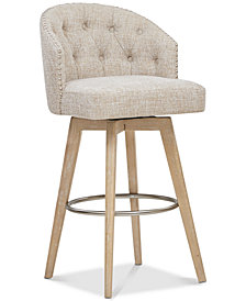 Penelope Swivel Bar Stool, Quick Ship