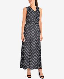 NY Collection Printed Maxi Dress