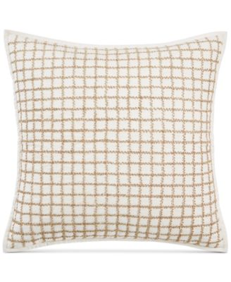 """Mosaic Grid 22"""" x 22"""" Decorative Pillow, Created for Macy's"""