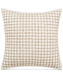 "Hotel Collection Mosaic Grid 22"" x 22"" Decorative Pillow, Created for Macy's"