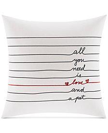 ED Ellen Degeneres Alta Love Square Decorative Pillow