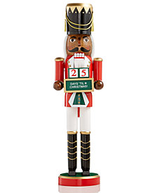 Holiday Lane African American Countdown Soldier Nutcracker, Created for Macy's
