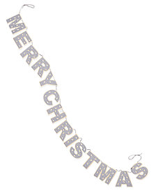 Holiday Lane Light Gray Merry Christmas Garland, Created for Macy's