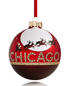 Holiday Lane Flying Reindeer Chicago Ornament, Created for Macy's