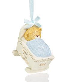 Holiday Lane 2018 Blue Sleeping Bear Cub Ornament, Created for Macy's