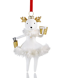 Holiday Lane Lady Deer Ornament, Created for Macy's