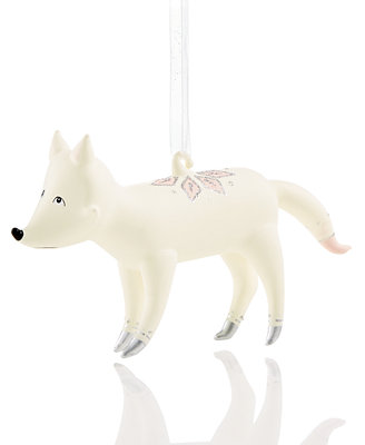 White Fox Ornament, Created For Macy's by Holiday Lane