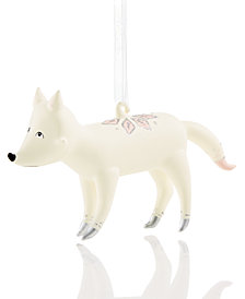 Holiday Lane White Fox Ornament, Created for Macy's
