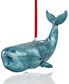 Holiday Lane Whale Ornament, Created for Macy's