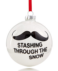 Holiday Lane Mustache Ball Ornament, Created for Macy's