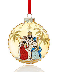 Holiday Lane Three Kings Disk Ornament, Created for Macy's