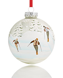 Holiday Lane Glass Ball Ornament with Snow View, Created for Macy's