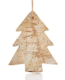 Holiday Lane Birch Wood Tree Ornament, Created for Macy's
